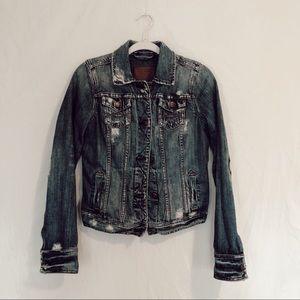 Abercrombie & Fitch Distressed Denim Jacket - M